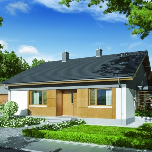 Biel i drewno to wyjątkowo eleganckie połączenie na elewacji domu. Fot. Pracownia Projektowa Archipelag