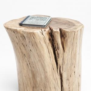 Wyjątkowy stołek ASTA NATURE sprawia wrażenie jakby został właśnie przywieziony z lasu. Gładka powierzchnia siedziska pięknie komponuje się z porowatą strukturą boków. 1.549 zł. Fot. Kare Design
