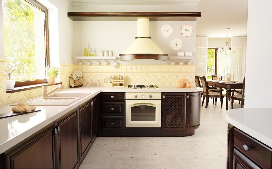Fot Kernau  Kuchnia rustykalna ten okap można pomalować -> Kuchnia Weglowa Okap