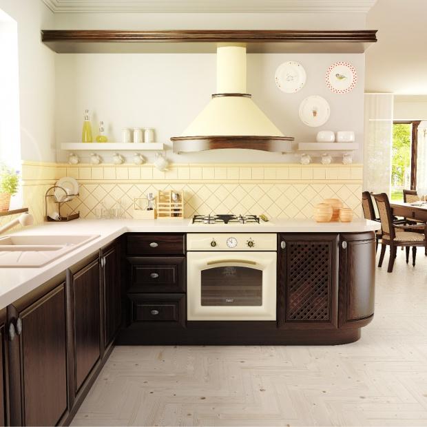 Kuchnia rustykalna: ten okap można pomalować