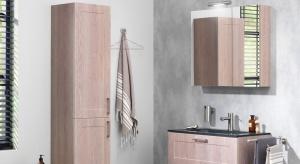 Loft, Manor, Studio oraz Cottage – cztery zestawy mebli łazienkowych to tak naprawdę czteryróżne warianty kolorystyczne i estetyczne tej samej prostokątnej szafki oraz wysokiego słupka.
