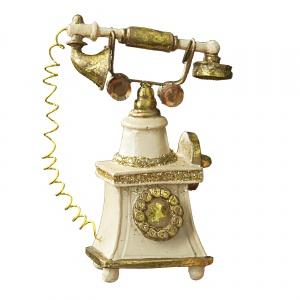 Ozdoba ceramiczna TELEFON, cena: ok. 25,10 zł. Fot. Eurofirany