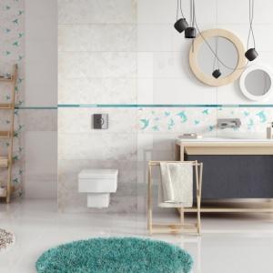 Geometryczne kształty w łazience