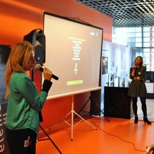 Katarzyna Pardiak-Borowska oraz Magdalena Smuś reprezentowały Ceramikę Paradyż, partnera głównego białostockiego spotkania.