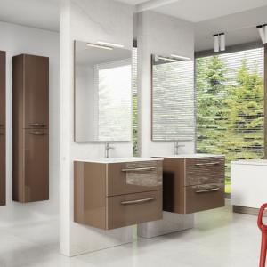 Modne meble do łazienki: sprawdź wiszące kolekcje szafek