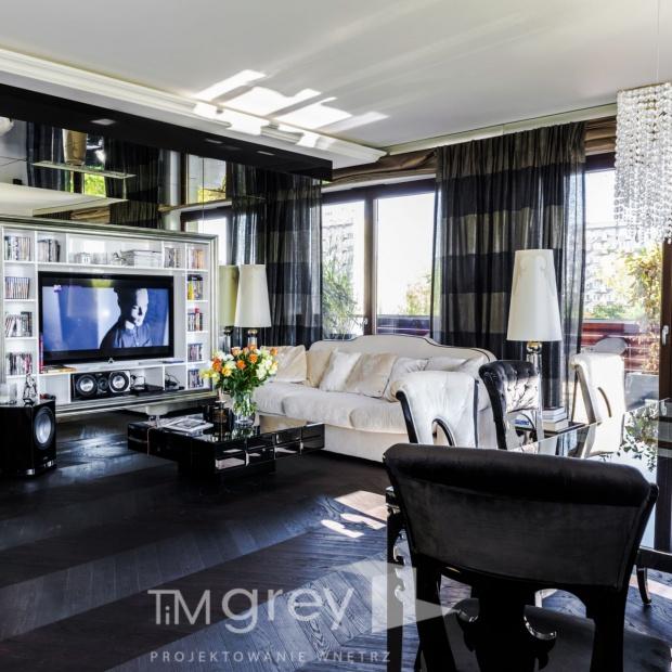 Apartament w stylu glamour: aranżacja mieszkania w Warszawie