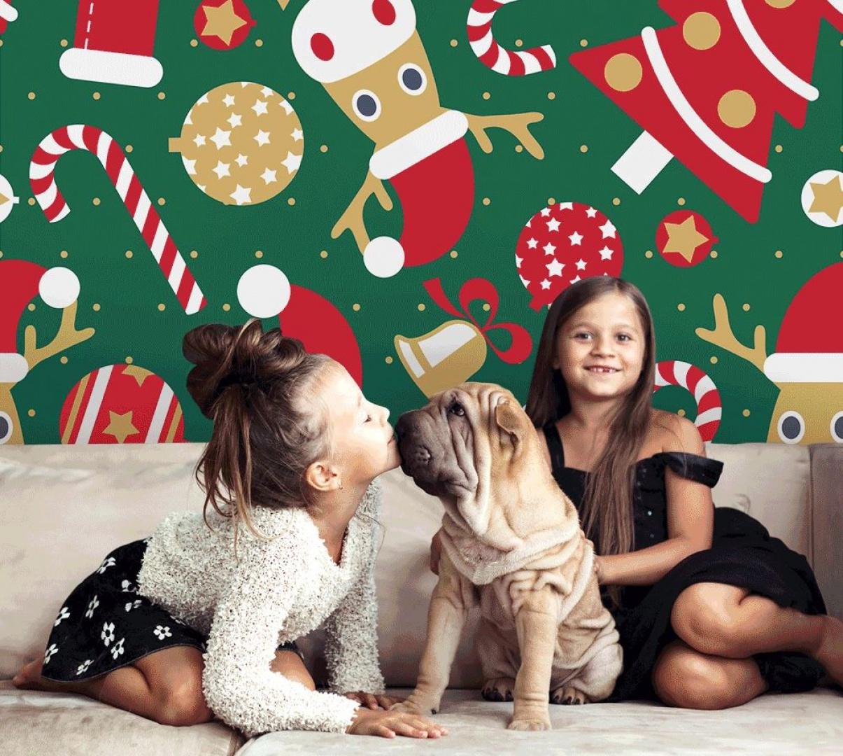 Fototapeta z motywem świątecznym. Fot. Pixers