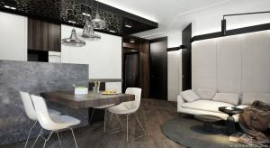 Apartament w Częstochowie o powierzchni 56m2 urządzono w stylu nowoczesnymw ciepłych barwach.