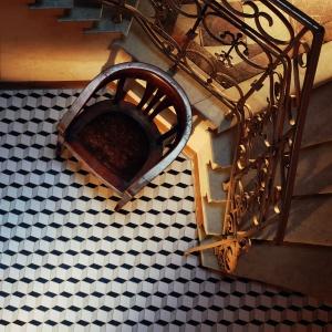 Barcelona mozaika klatka. Fot. Tubądzin
