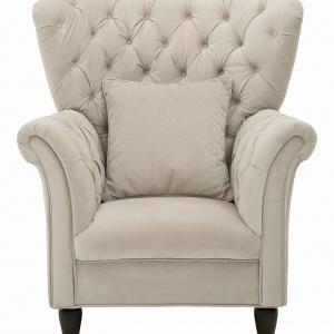 Fotel CUPIDO ma szerokie siedzisko, wygięte oparcie i ozdobne nóżki. Uzupełni aranżację salonu w stylu klasycznym lub glamour. 1.169 zł. Fot. Black Red White