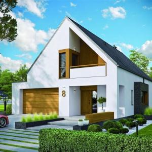 Dom w formie nowoczesnej stodoły ma prostą, zwartą bryłę, co gwarantuje dobre parametry energooszczędności. Projekt: Riko III G2, autor: arch. Artur Wójciak, Fot. Pracownia Projektowa Archipelag