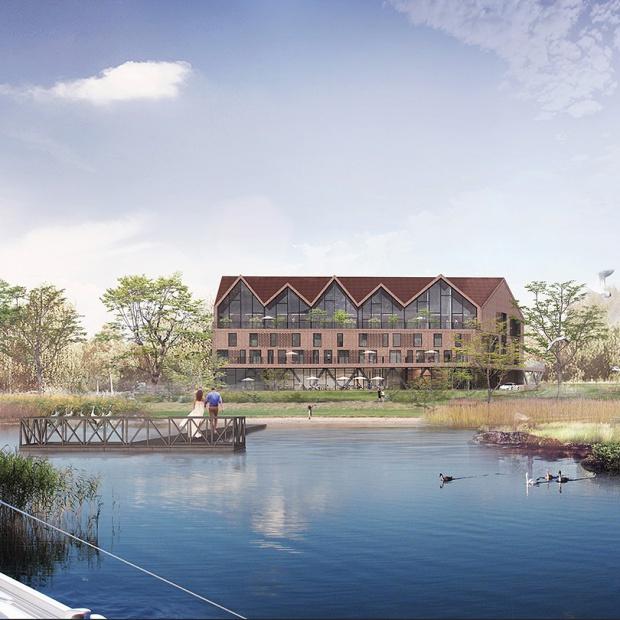Klimatyczny projekt hotelu Mazury nad jeziorem
