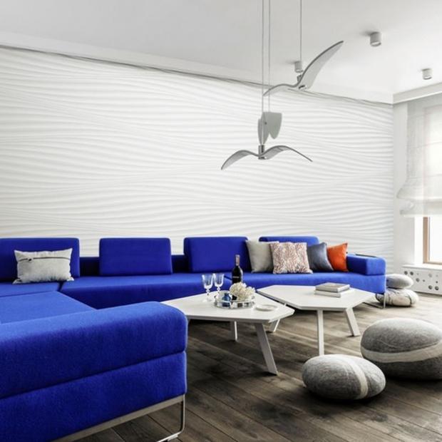 Nowoczesny apartament w Gdyni: w stylu marynistycznym