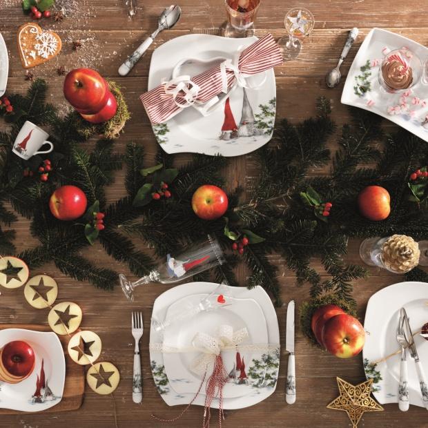 Świąteczny stół - porcelana na bajkowe Boże Narodzenie