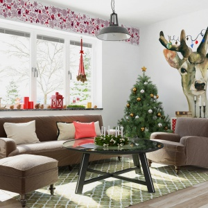 Dom na święta: piękne dekoracje ścian