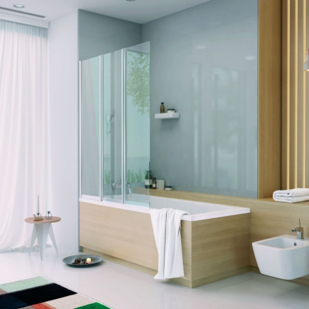 Pomysł na łazienkę: wanna z parawanem