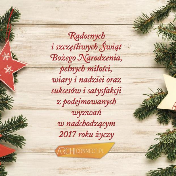 Wesołych Świąt życzy redakcja Archiconnect.pl