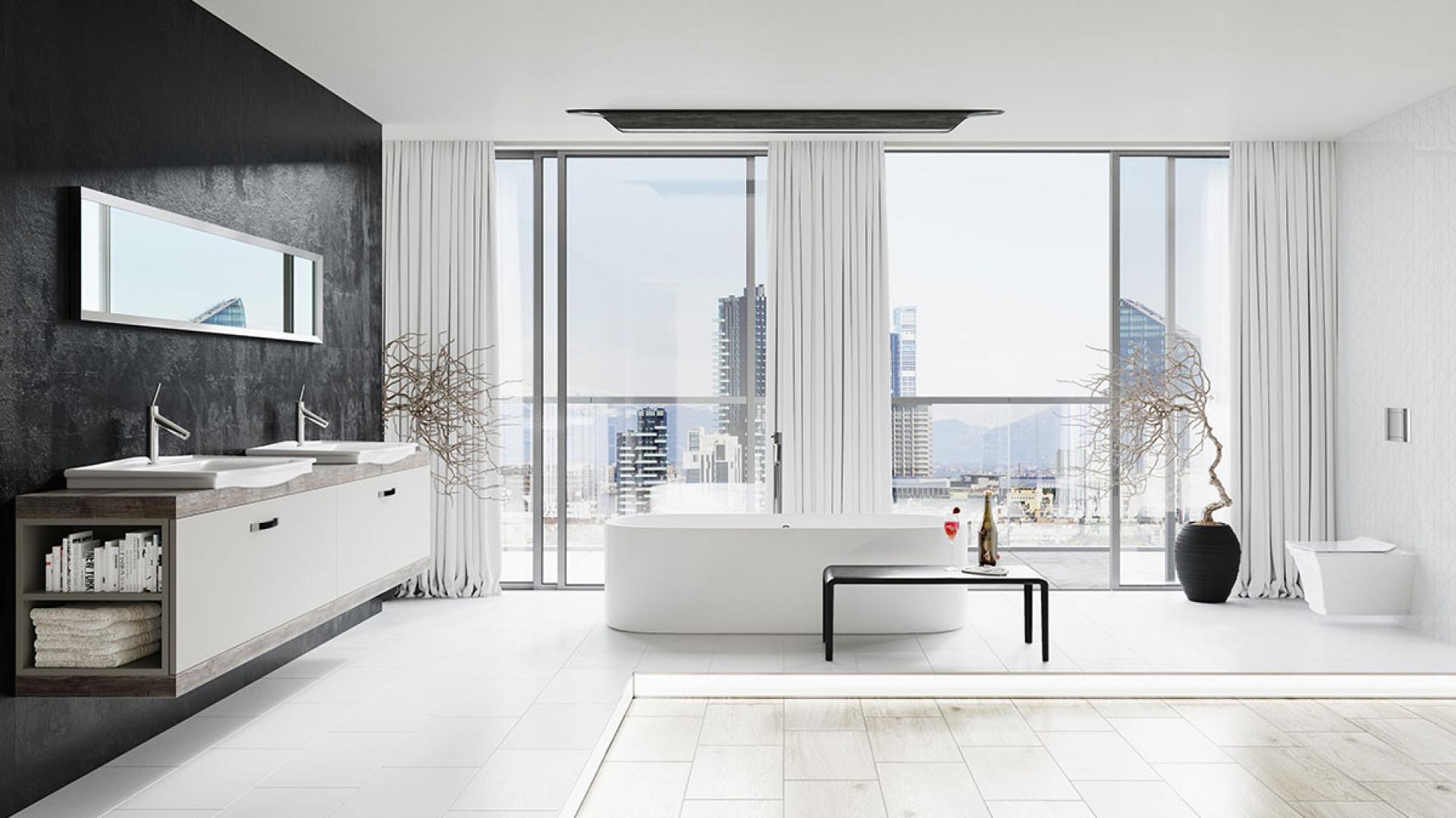 Szafka pod umywalkę w stylu retro, jako praktyczne i stylowe rozwiązanie do łazienki.