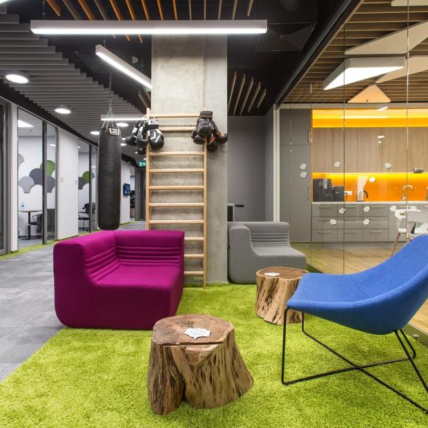 Biuro, w którym króluje design