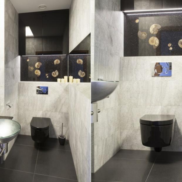Ściana nad WC: zobacz modne inspiracje
