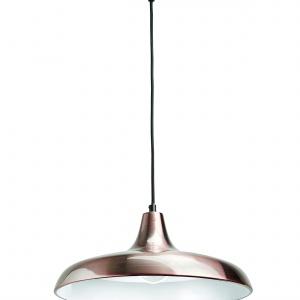 Lampa SURREY z kolekcji MyLiving z matowym miedziano-białym kloszem to formalna fuzja przeszłości z teraźniejszością. 359 zł. Fot. Philips