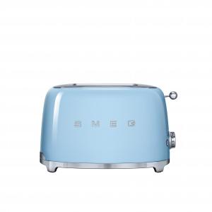 Małe AGD z linii 50'S STYLE zachwyca nie tylko stylizowaną na retro formą, ale i pięknym pastelowym odcieniem błękitu. 699 zł/toster, 779 zł/czajnik. Fot. Smeg