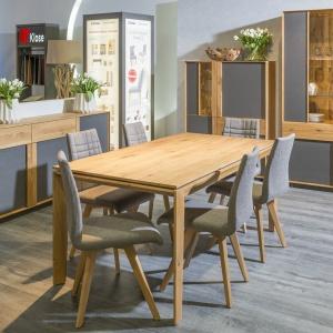 Kolekcja Woodline prezentuje dwa modne trendy - naturalne drewno i szarości. Fot. Klose