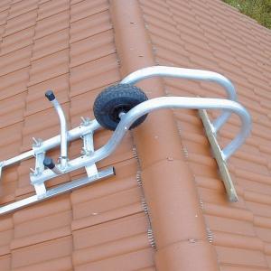 Drabina dachowa - pałąk łączący do kalenicy. Fot. Krause