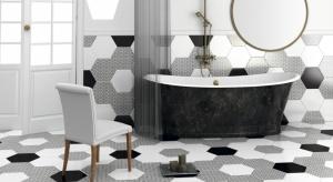 """Jeżeli chcemy urządzić elegancką i ponadczasową łazienkę """"z pazurem"""", najlepszym rozwiązaniem będzie uniwersalne połączenie czerni i bieli."""