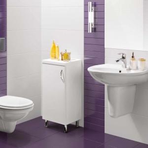 Klasyczną łazienkę można ożywić akcentami utrzymanymi w intensywnych barwach. Fot. Grupa Armatura