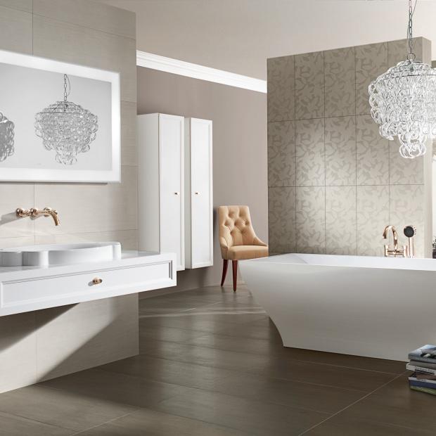 Modna łazienka: wybierz romantyczny glamour