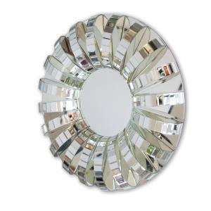 Awangardowe lustro ARCHE z trójwymiarową ramą ze szklanych elementów tworzących pierścień. Od 2.099 zł. Fot. Polski Serwis Ramiarski Oprawiamy.pl
