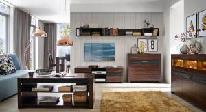 Miedziane dodatki, lampy czy akcesoria sprawią, że salon zyska przytulny, a jednocześnie elegancki charakter.