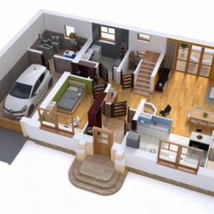 Przykład przestrzeni strefy dziennej – projekt domu BW-17. Fot. Extradom.pl