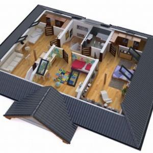 Przykład przestrzeni strefy nocnej – projekt domu BW-52. Fot. Extradom.pl