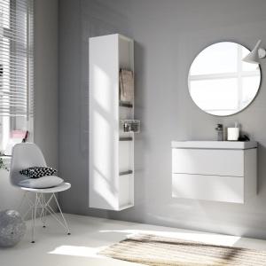 Idealne łazienki według większości Polaków powinny być jasne – w odcieniach bieli lub kremu. Fot. Cersanit