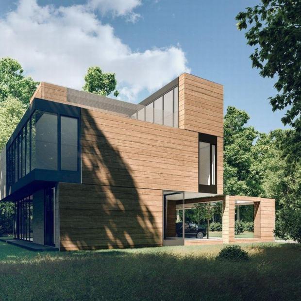 Nowoczesny dom z klocków: ciekawy projekt