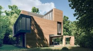 Inspiracją do stworzenia projektu Domu Yenga była otaczająca działkę przyroda, a szczególnie modrzew, który jest głównym elementem elewacji.