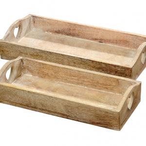 Drewniane tace ROW ozdobione uchwytem w kształcie serca. 75 zł/2 szt. Fot. Westwing