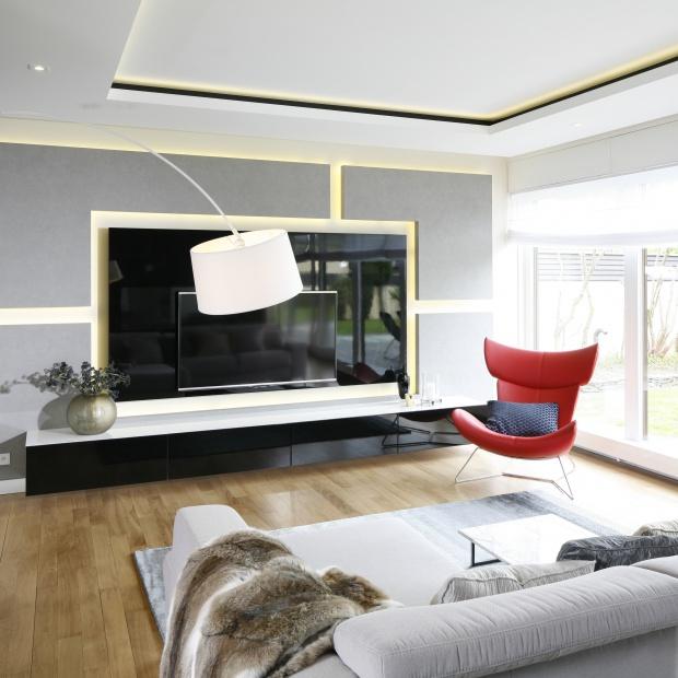 5 pomysłów na ścianę za telewizorem