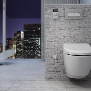 Toaleta myjąca USPA 6035 to gwarancja komfortu. System dwóch dysz myjących, specjalny program dla dzieci, mycie tylne, funkcja bidetu dla pań, suszenia ciepłym powietrzem oraz podgrzewana, wolno opadająca deska; sterowanie za pomocą pilota. 2.850 zł. Fot. Uspa