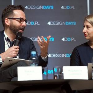 Łukasz Kos i Magdalena Lubińska podczas sesji inauguracyjnej 4 Design Days