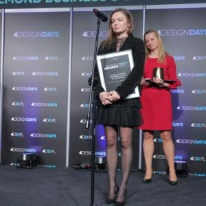 Hotel Almond otrzymał statuetkę w kategorii Design wnętrze. Nagrodę odebrali: Paulina Czurak, właścicielka biura Ideograf, autorka projektu wnętrz oraz Lucyna Waruszewska, dyrektor generalna Hotelu Almond.