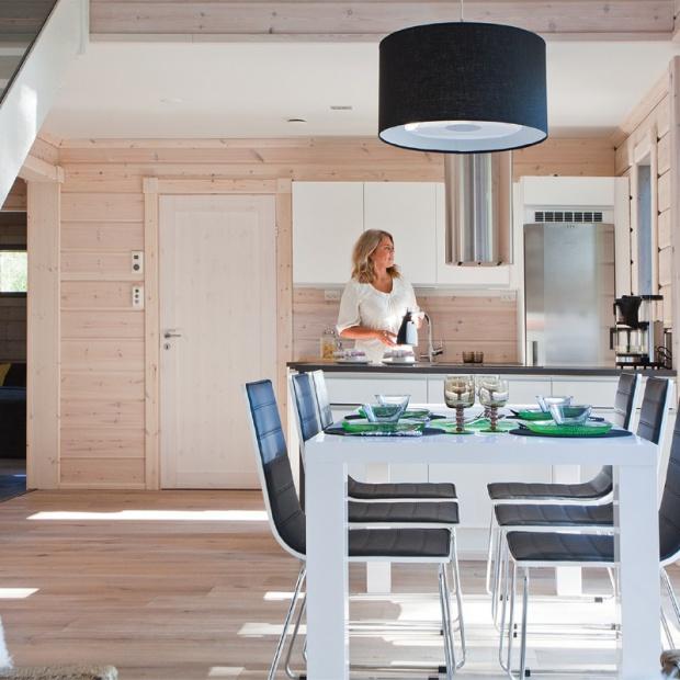 Domy z bali - piękne wnętrza, ekologiczne materiały