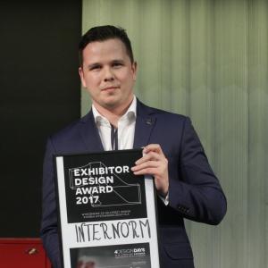 Nagroda dla firmy Internorm za najlepsze stoisko 4 Design Days