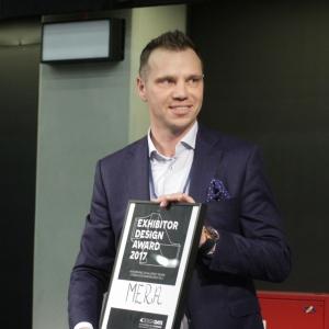 Nagroda dla firmy  Mera za najlepsze stoisko 4 Design Days