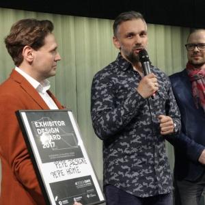 Nagroda dla firmy  Pepe Design i Pepe Home za najlepsze stoisko 4 Design Days