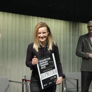 Nagroda dla firmy  Domatoria za najlepsze stoisko 4 Design Days