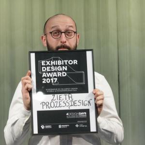 Nagroda dla firmy  Zieta Prozessdesign za najlepsze stoisko 4 Design Days