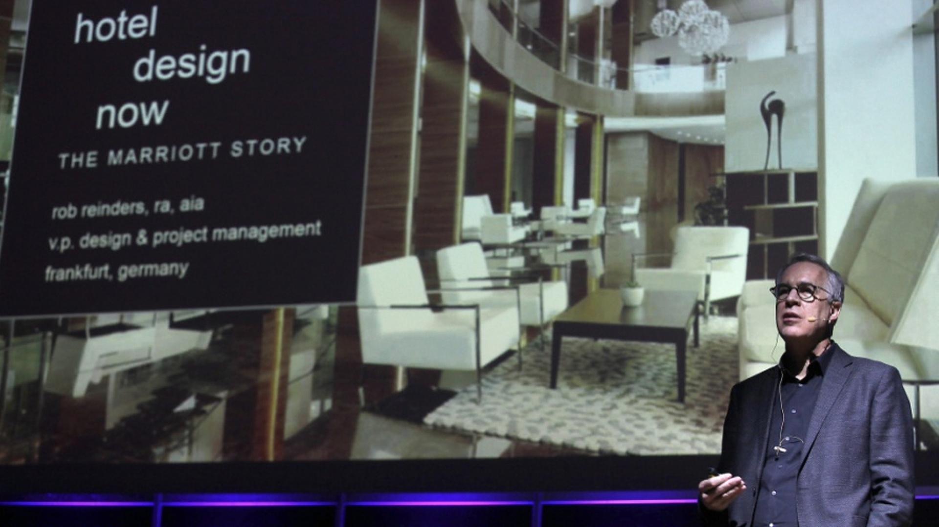 Rob Reinders, Vice President, Design Management w Marriott International - Architecture & Construction, podczas 4 Design Days